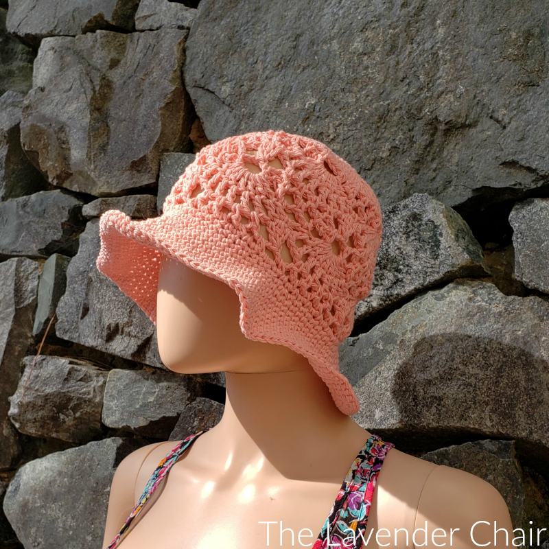 Lacy Shells Sun Hat (Adult) - Free Crochet Pattern - The Lavender Chair