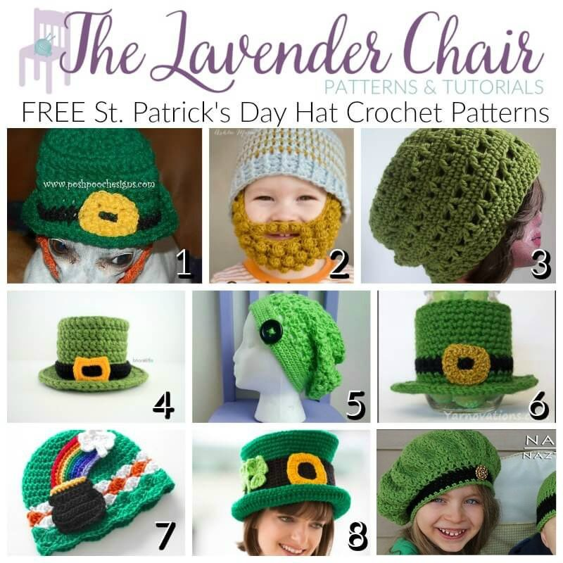 St. Patrick's Day Hat Crochet Patterns - The Lavender Chair