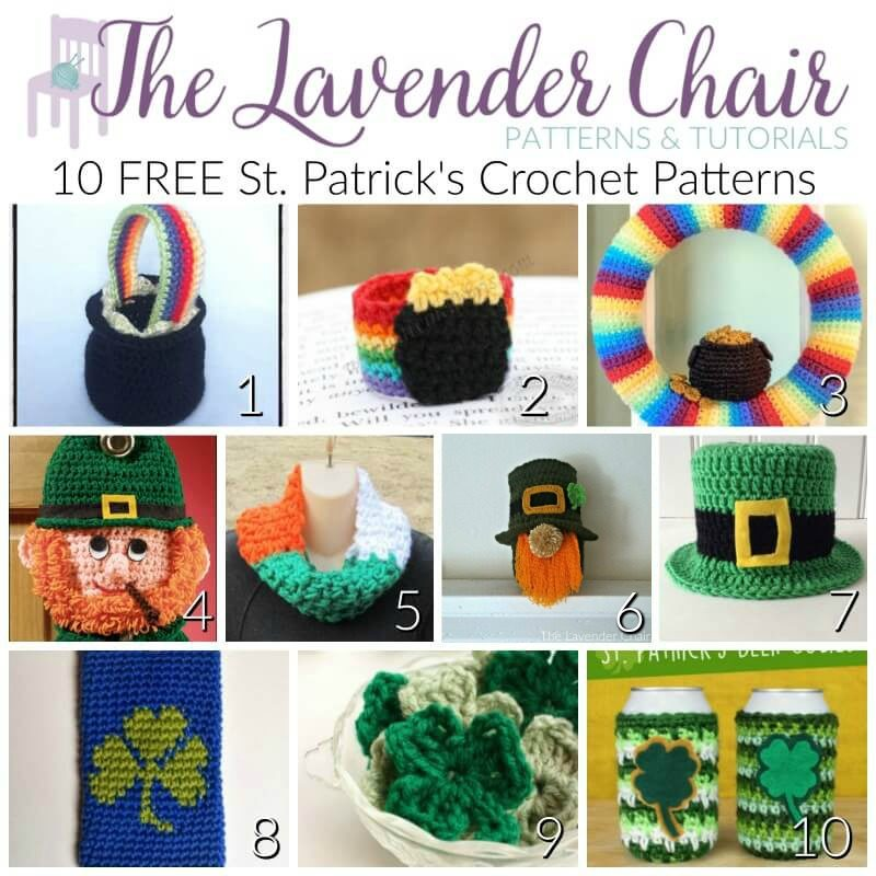 10 FREE St. Patrick's Day Crochet Patterns - The Lavender Chair