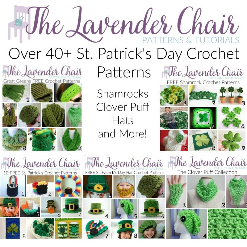 St. Patrick's Day Crochet Patterns - The Lavender Chair