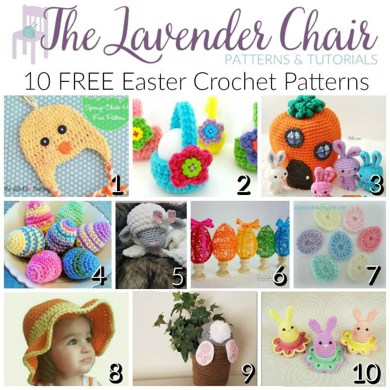 10 Free Easter Crochet Patterns - The Lavender Chair