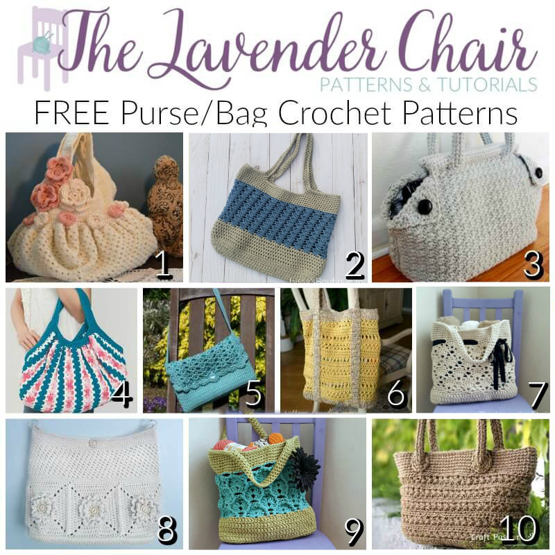 Free Purse/Bag Crochet Patterns - The Lavender Chair