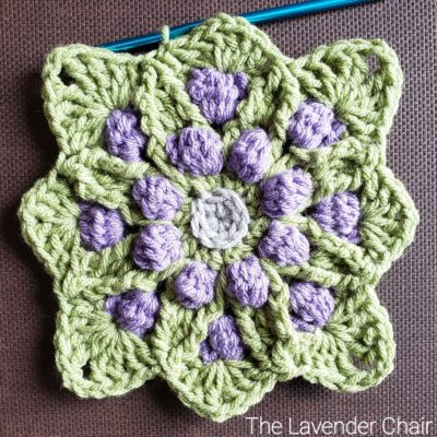 "Vitis Vinifera 12"" Square - Free Crochet Pattern - The Lavender Chair"