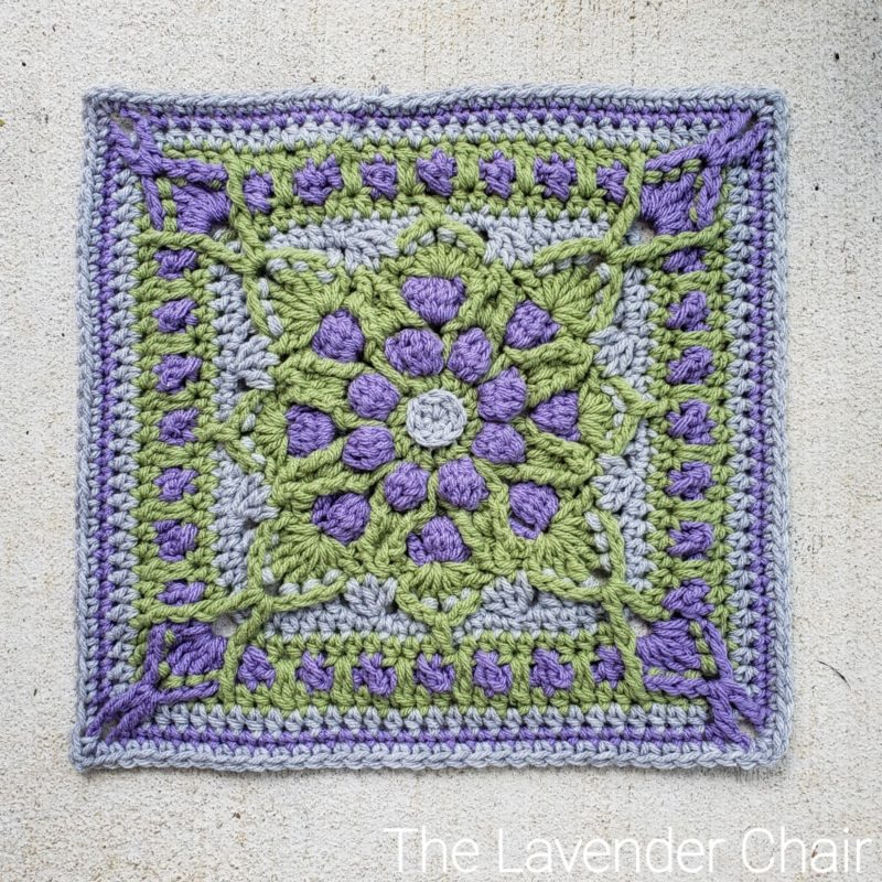 Vitis Vinifera Square - Free Crochet Pattern - The Lavender Chair