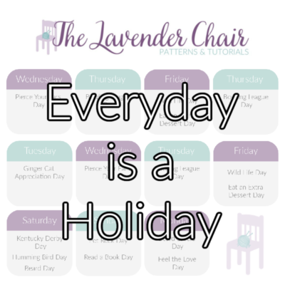 Everyday's A Holiday Crochet Patterns (September 2020 – August 2021)