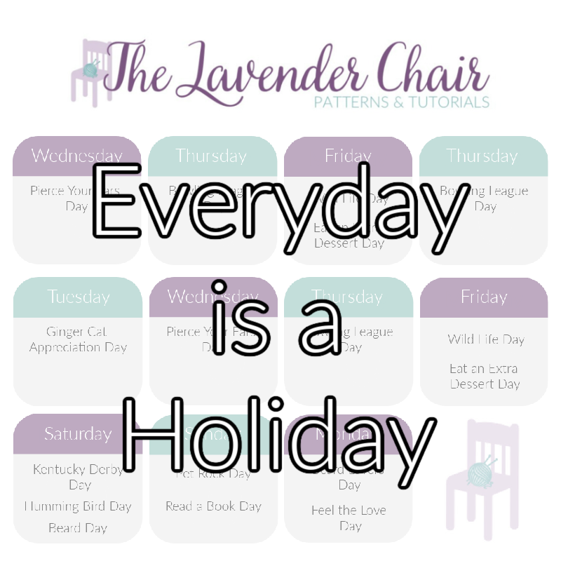 Every Day is a Holiday - The Lavender Chair