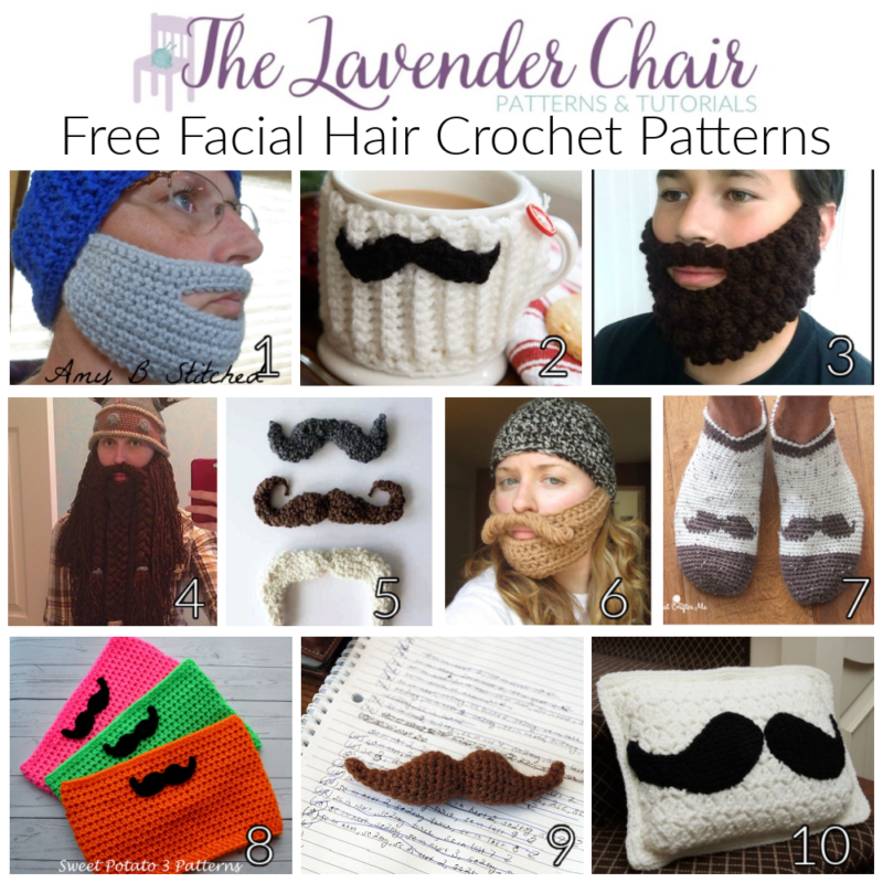 Free Facial Hair Crochet Patterns - The Lavender Chair