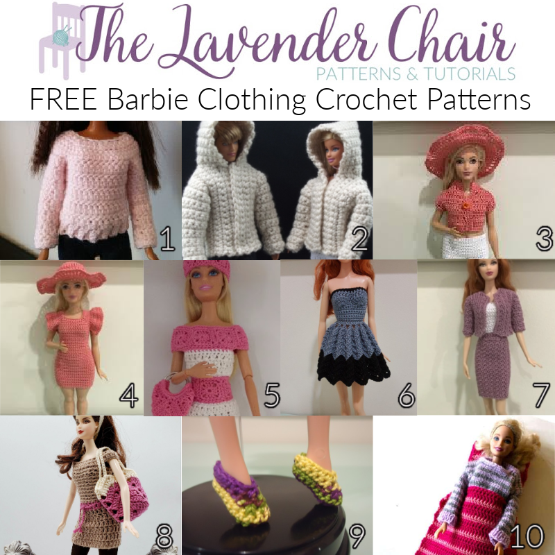 Free Barbie Clothing Crochet Patterns - The Lavender Chair