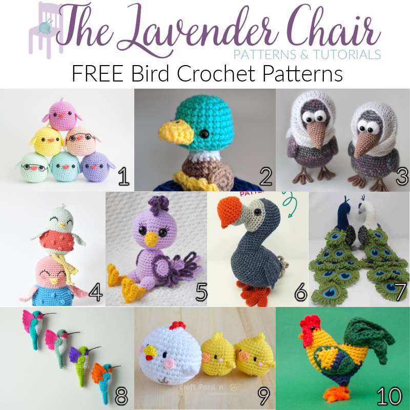 Free Bird Crochet Patterns - The Lavender Chair