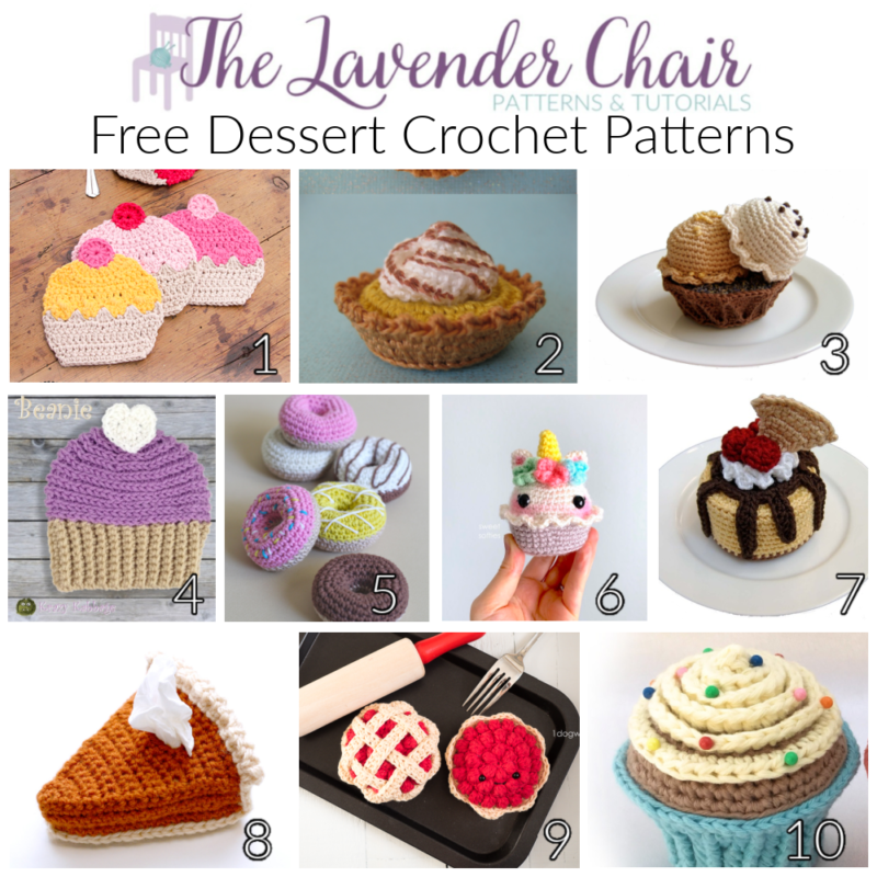 Free Dessert Crochet Patterns - The Lavender Chair