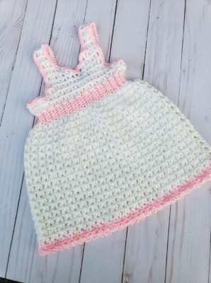 Valerie's First Birthday Dress (Newborn) Crochet Pattern