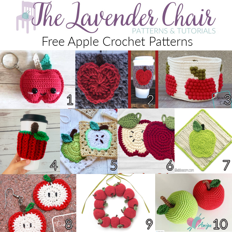 Free Apple Crochet Patterns - The Lavender Chair