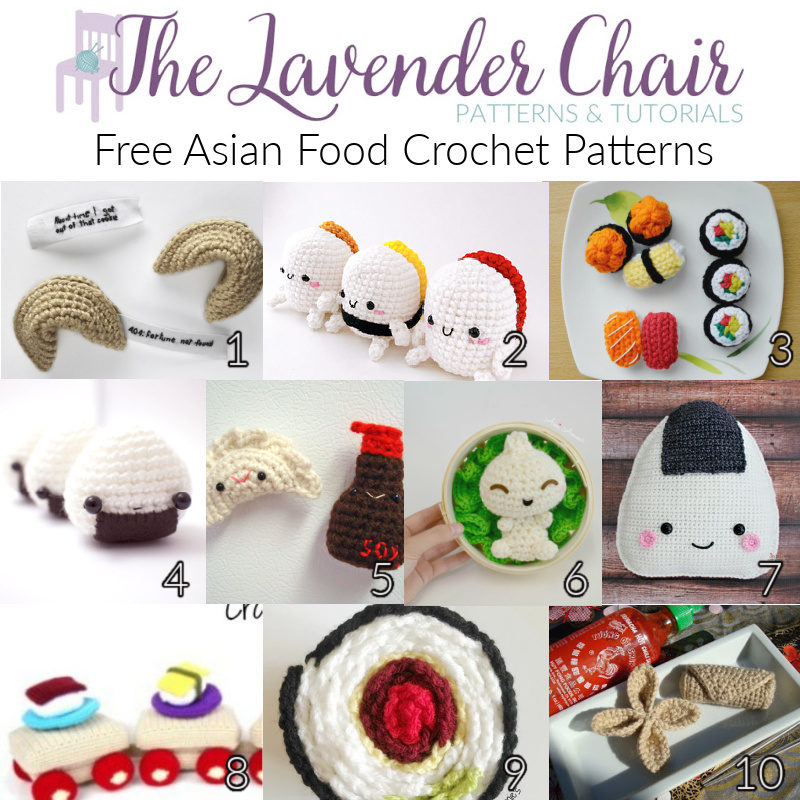 Free Asain Food Crochet Patterns - The Lavender Chair