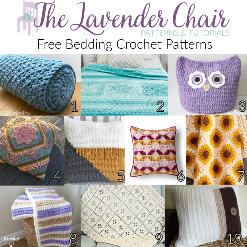 Free Bedding Crochet Patterns - The Lavender Chair