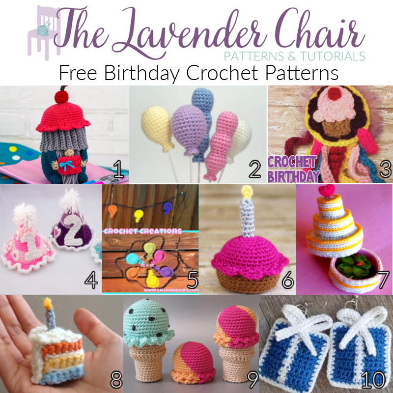 Free Birthday Crochet Patterns - The Lavender Chair