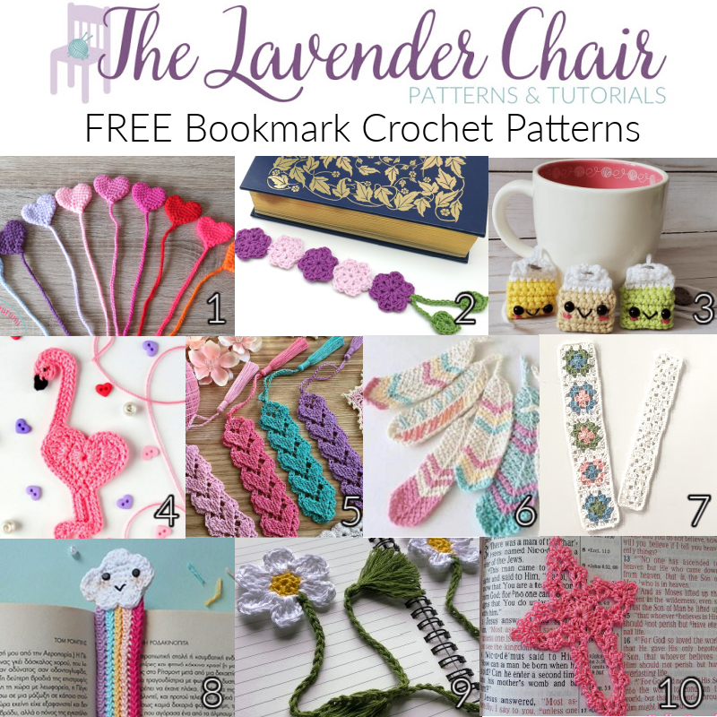 Free Bookmark Crochet Patterns - The Lavender Chair