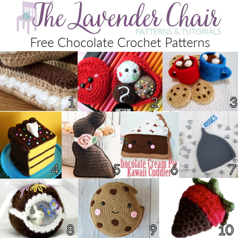 Free Chocolate Crochet Patterns - The Lavender Chair
