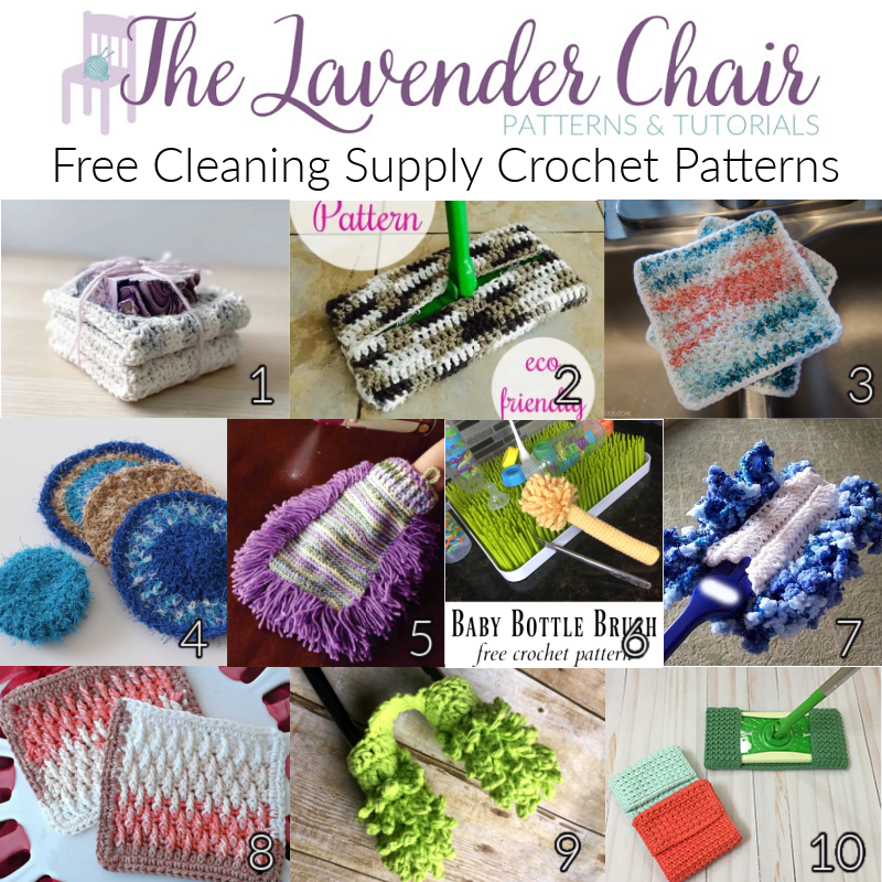 Free Cleaning Supply Crochet Patterns - The Lavender Chair