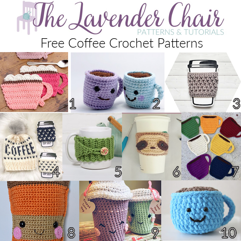 Free Coffee Crochet Patterns - The Lavender Chair