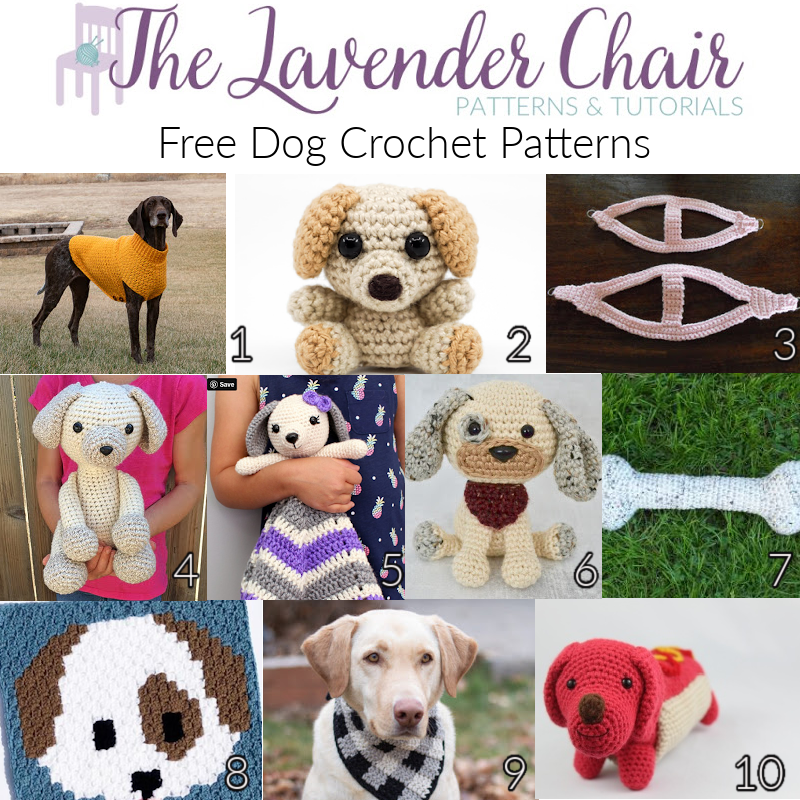 Free Dog Crochet Patterns - The Lavender Chair