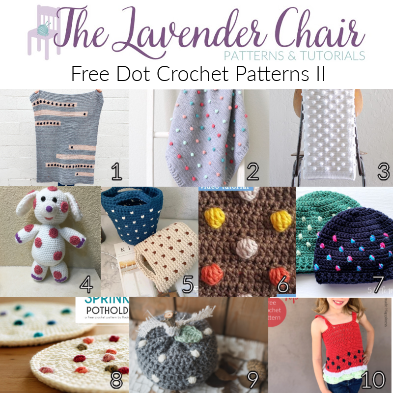 Free Dot Crochet Patterns II - The Lavender Chair