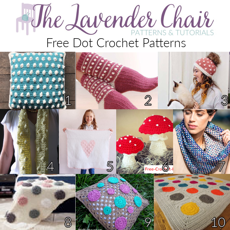 Free Dot Crochet Patterns - The Lavender Chair
