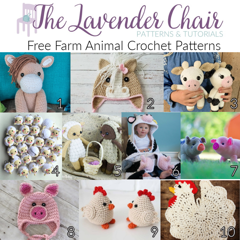 Free Farm Animal Crochet Patterns - The Lavender Chair