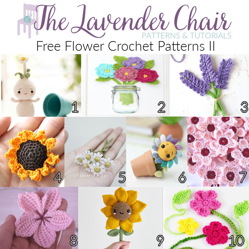 Free Flower Crochet Patterns - The Lavender Chair