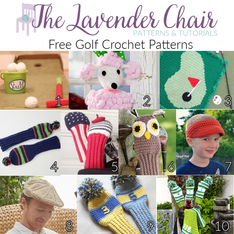 Free Golf Crochet Patterns - The Lavender Chair
