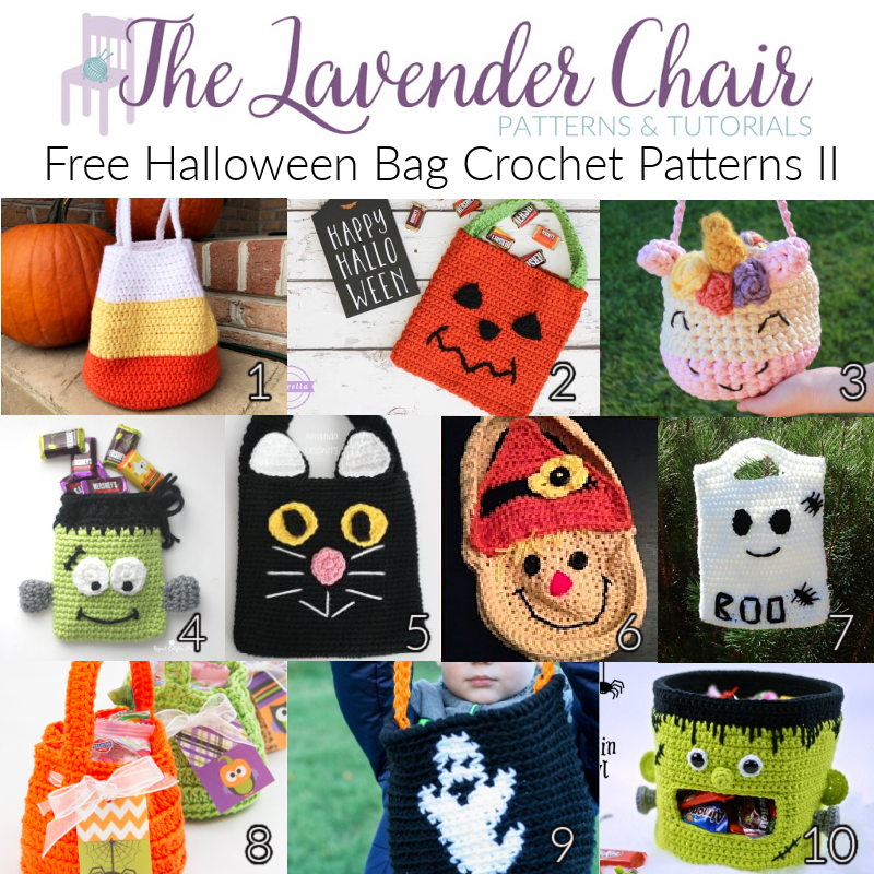 Free Halloween Bag Crochet Patterns II - The Lavender Chair