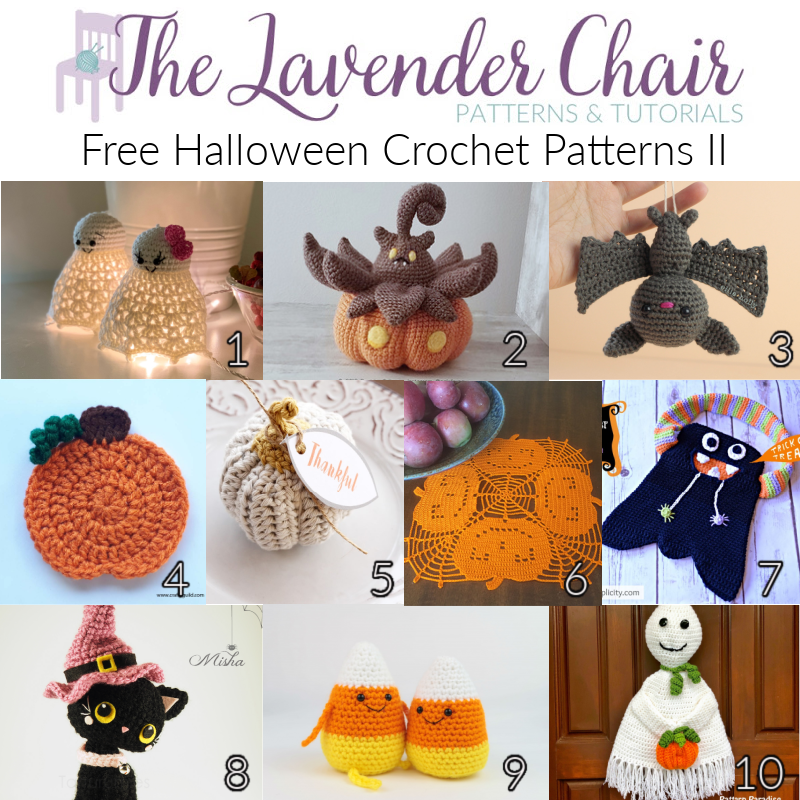 Free Halloween Crochet Patterns II - The Lavender Chair