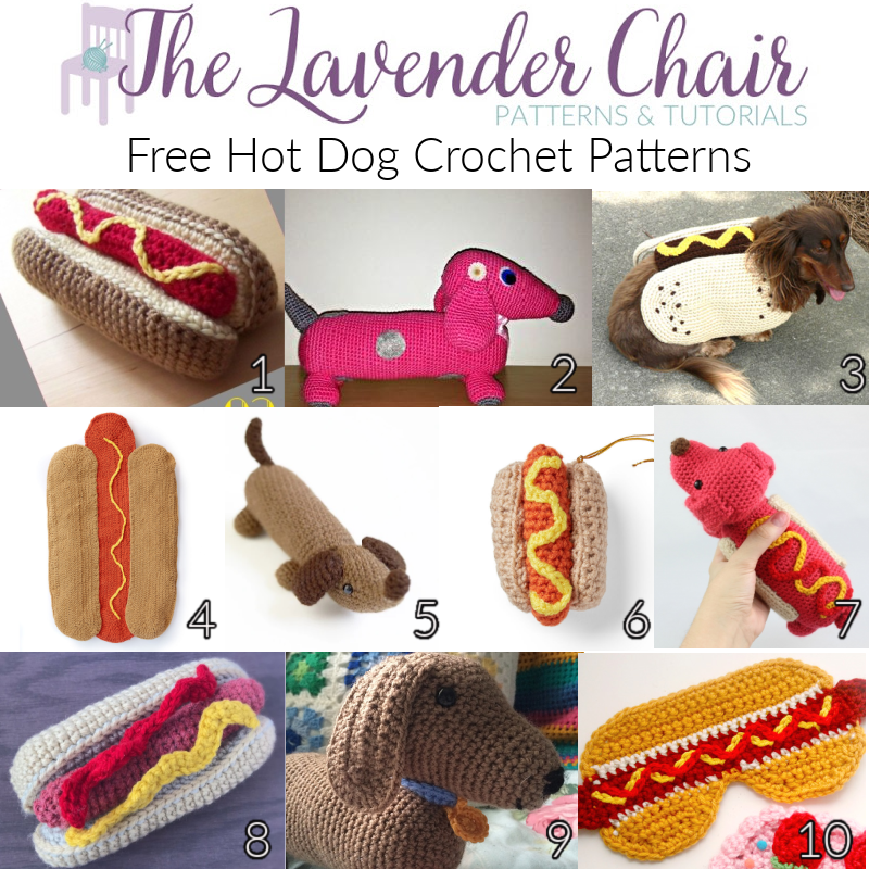 Free Hot Dog Crochet Patterns - The Lavender Chair