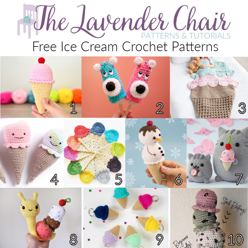 Free Ice Cream Crochet Patterns - The Lavender Chair