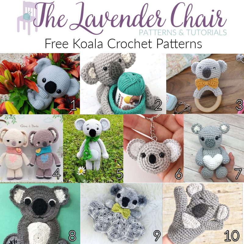 Free Koala Crochet Patterns - The Lavender Chair