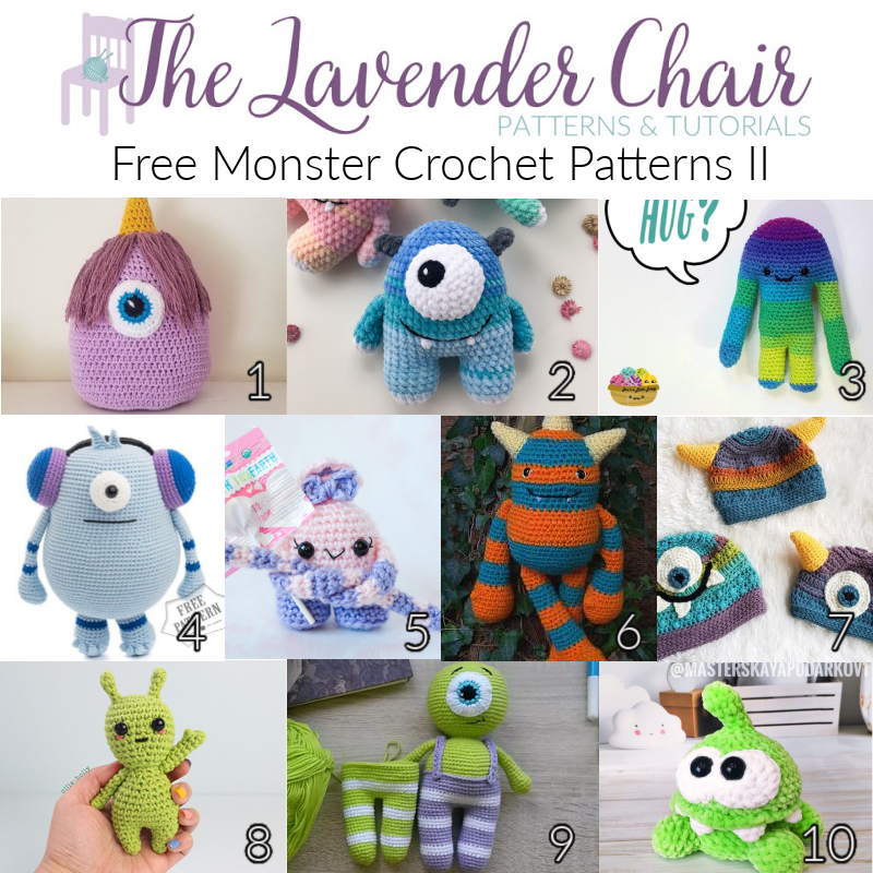 Free Monster Crochet Patterns II - The Lavender Chair