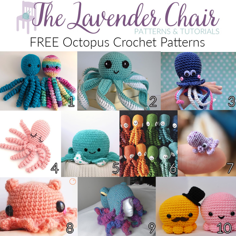 Free Octopus Crochet Patterns- The Lavender Chair