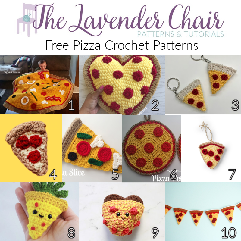 Free Pizza Crochet Patterns - The Lavender Chair