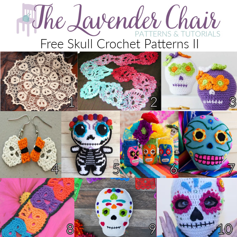 Free Skull Crochet Patterns II - The Lavender Chair