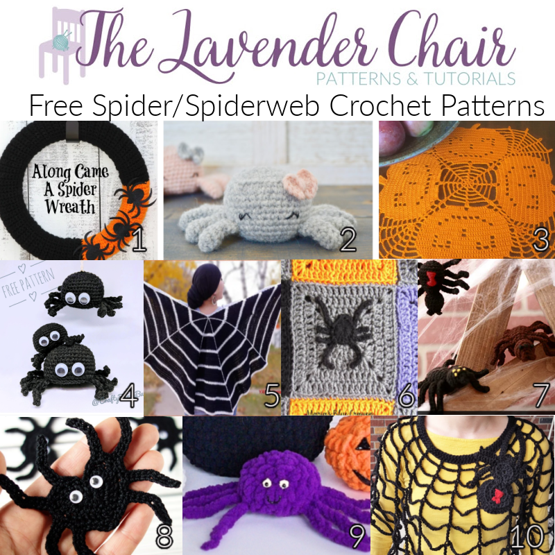Free Spider/Spiderweb Crochet Patterns - The Lavender Chair