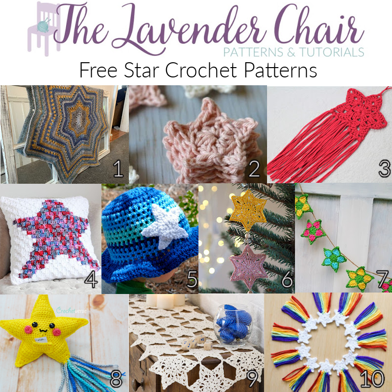 Free Star Crochet Patterns - The Lavender Chair
