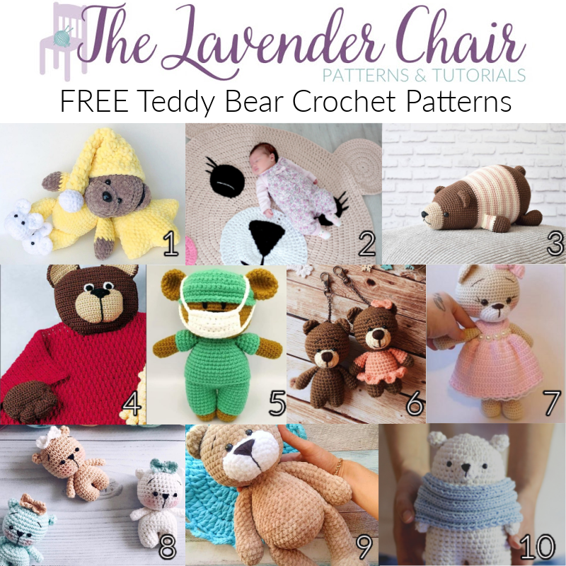 Free Teddy Bear Crochet Patterns - The Lavender Chair