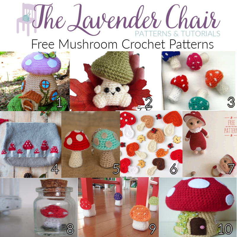 Free Mushroom Crochet Patterns - The Lavender Chair