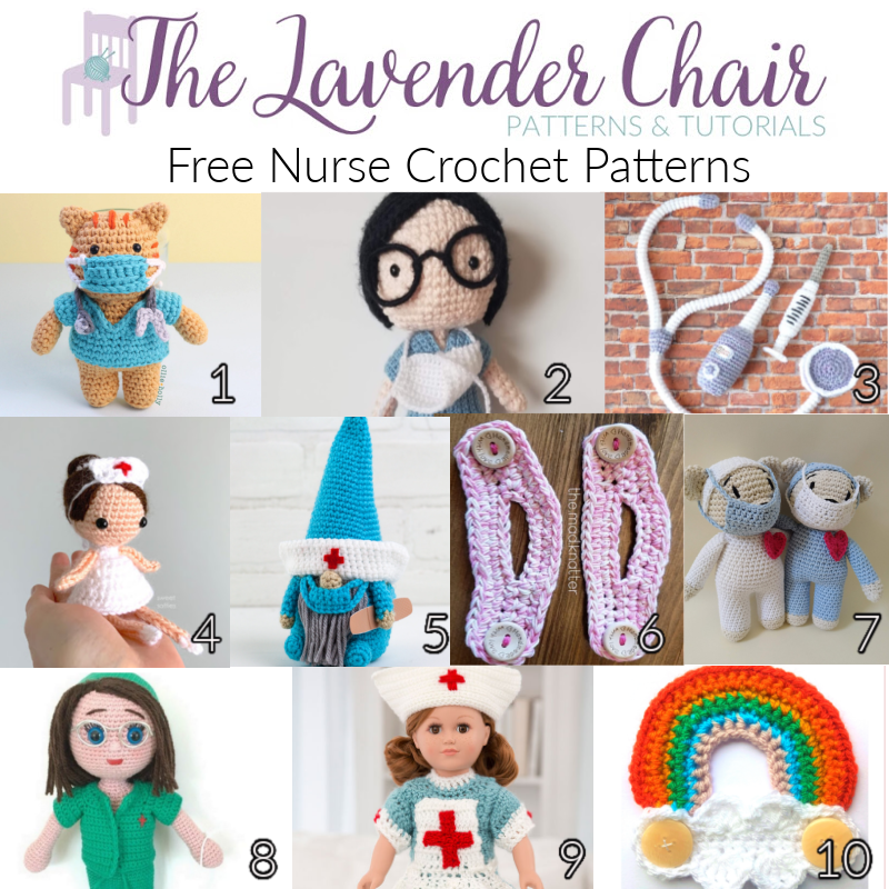 Free Nurse Crochet Patterns - The Lavender Chair