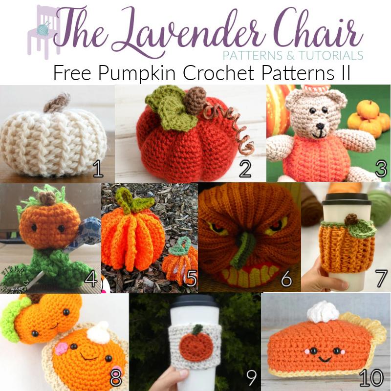 Free Pumpkin Crochet Patterns - The Lavender Chair