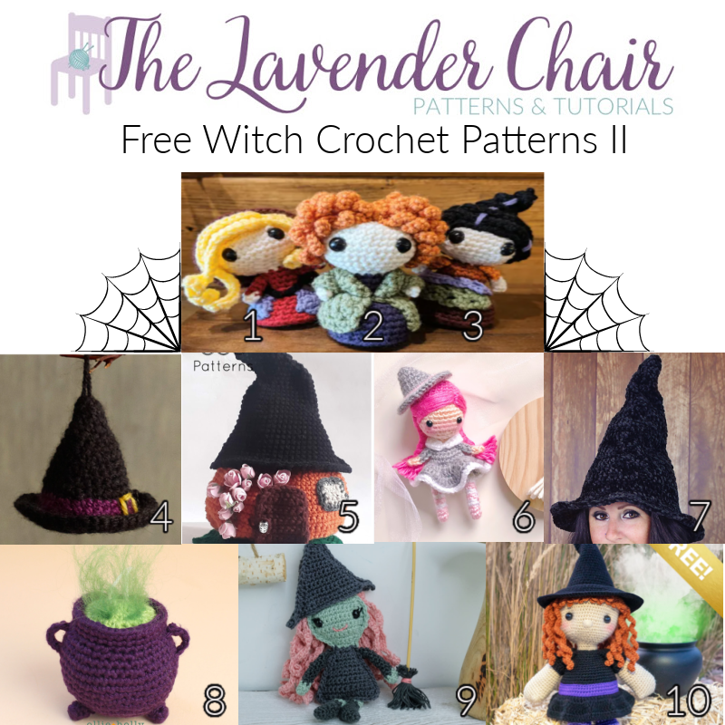 Free Witch Crochet Patterns II - The Lavender Chair