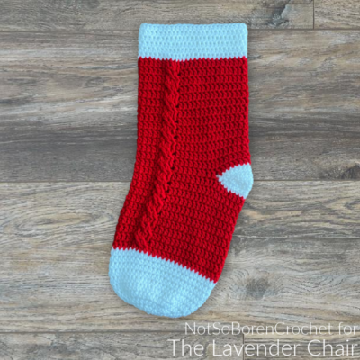 Read more about the article Cabled Stocking Crochet Pattern