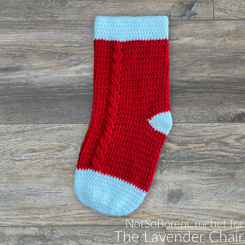 Cabled Stocking - Free Crochet Pattern - The Lavender Chair