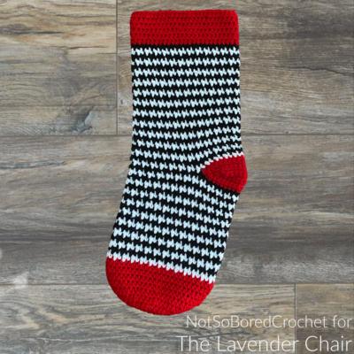 Houndstooth Stocking Crochet Pattern