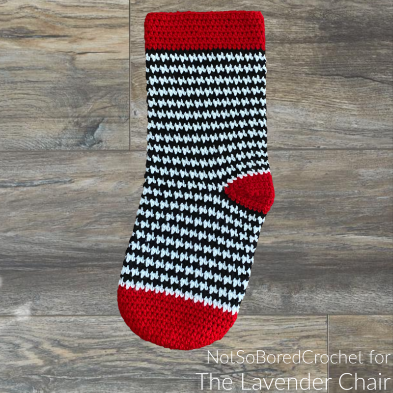 Houndstooth Stocking - Free Crochet Pattern - The Lavender Chair
