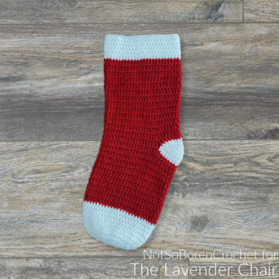 No Frills Basic Double Crochet Stocking Crochet Pattern